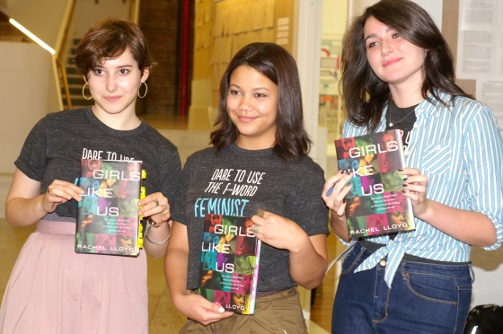 The students in my feminism class read Rachel Lloyd's memoir, Girls Like Us, about the commercial sexual exploitation of children. (Photo credit: Steve Neiman).