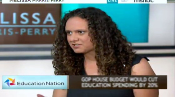 My national television debut on the Melissa Harris-Perry Show (photo credit: Cheryl Coward).