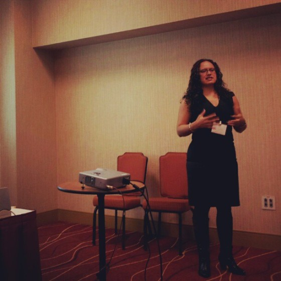 I presented at the National Women's Studies Association Conference in 2012 (photo credit: Veronica Arreola).