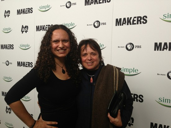 Chicana feminist Cherríe Moraga and I at the MAKERS: Women Who Make America premiere in New York (photo credit, Ileana Jiménez).