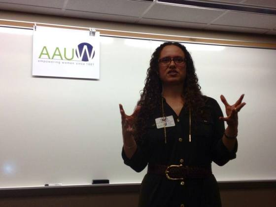 I delivered the keynote at the AAUW's first ever symposium on teaching women's and gender studies in K-12 schools. The symposium was held in St. Louis (photo credit: Holly Kearl).