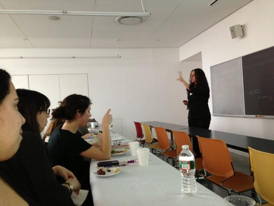 I presented at the Barnard Center for Research on Women Utopia conference in March 2013 (photo credit: Shannon Cuttle).