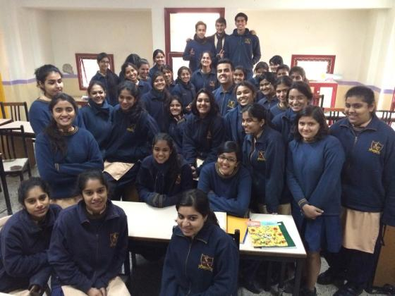 Students at the Sanskriti School in New Delhi talked with me about gender and sexuality in Indian culture (photo credit: Ileana Jiménez)