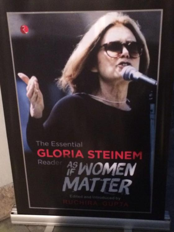 "Gloria Steinem's new book is titled ""As if Women Matter,"" (photo credit: Ileana Jiménez, Feminist Teacher)."