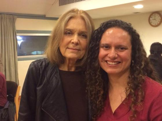 Gloria Steinem and I in India at the International India Centre (photo courtesy, Ileana Jiménez).