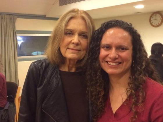 Gloria Steinem and I in India at the International India Centre (photo courtesy, Ileana Jiménez).