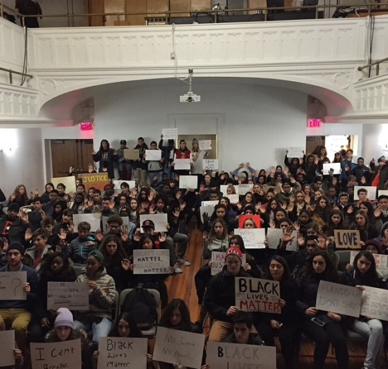 black lives matter LREI auditorium 2014
