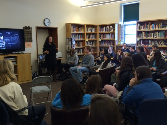 I led a two-hour workshop on feminist activism and organizing for Andover students in February (photo credit: Tracy Ainsworth).